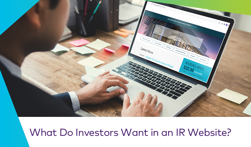 What Do Investors Want in an IR Website Cover