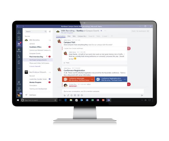 Microsoft Teams chat view on a desktop screen